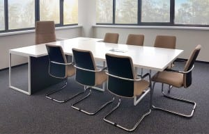Vadovo Baldu Serija SIMPLEX. Vadovo stalas ir konferencijų stalas.