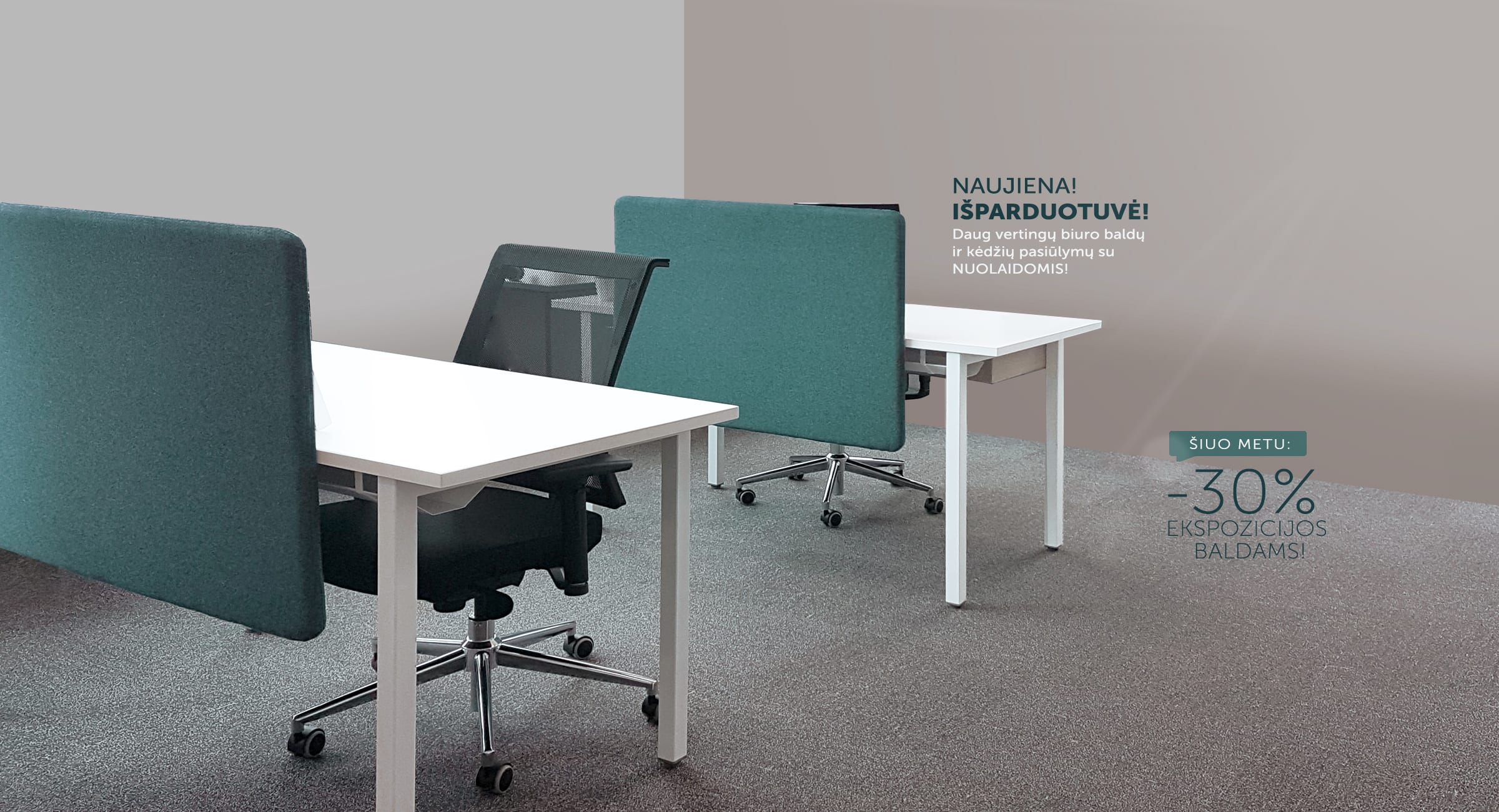 nuolaidos biuro baldams