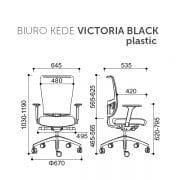 Darbuotojų biuro kėdė VICTORIA_ BLACK_SCHEMA