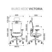 Darbuotojų biuro kėdė VICTORIA_ SCHEMA